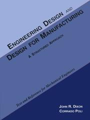 Cover of: Engineering Design & Design for Manufacturing