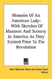 Cover of: Memoirs Of An American Lady