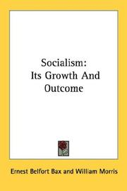 Cover of: Socialism: Its Growth And Outcome