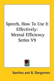 Cover of: Speech, How To Use It Effectively