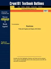 Cover of: Business (Cram101 Textbook Outlines - Textbook NOT Included)