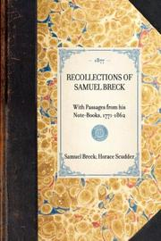 Cover of: Recollections of Samuel Breck
