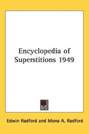 Cover of: Encyclopedia of Superstitions 1949