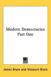 Cover of: Modern Democracies Part One