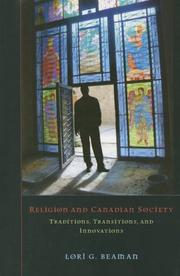 Cover of: Religion and Canadian Society