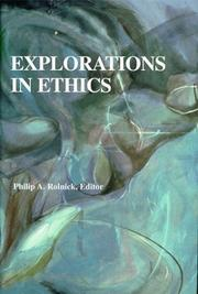 Cover of: Explorations in Ethics