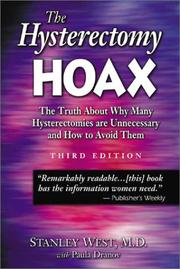 Cover of: The Hysterectomy Hoax