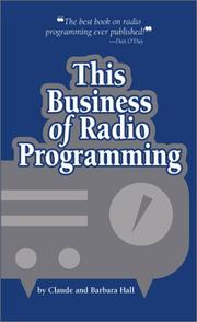 Cover of: This Business of Radio Programming