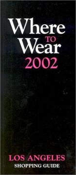 Cover of: Where to Wear