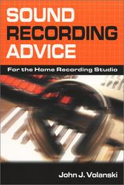 Cover of: Sound recording advice