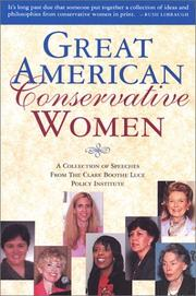 Cover of: Great American conservative women