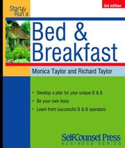 Cover of: Start and Run a Profitable Bed and Breakfast (Start & Run a)