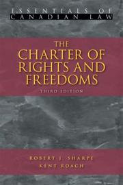 Cover of: The Charter of Rights and Freedoms (Essentials of Canadian Law)