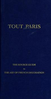 Cover of: Tout Paris