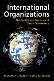 Cover of: International Organizations