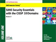 Cover of: SANS Security Essentials with CISSP CBK (Set of 2; Version 2.1)