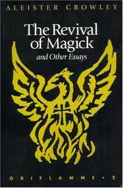 Cover of: The Revival of Magick