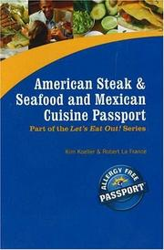 Cover of: American Steak & Seafood and Mexican Cuisine Passport (Let's Eat Out!)