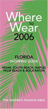 Cover of: Where to Wear Florida 2006 (Where to Wear)