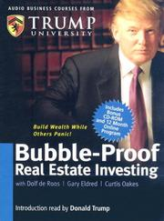 Cover of: Bubble-Proof Real Estate Investing (Audio Business Course)