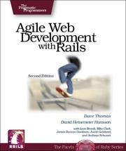 Cover of: Agile Web Development with Rails, 2nd Edition