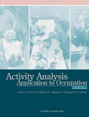 Cover of: Activity Analysis