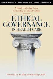Cover of: Ethical Governance in Health Care
