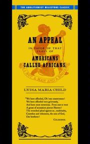 Cover of: Appeal in Favor of Africans