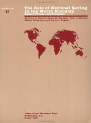 Cover of: Role of National Saving in the World Economy