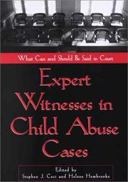 Cover of: Expert Witnesses in Child Abuse Cases: What Can and Should Be Said in Court