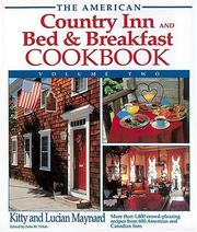 Cover of: The American Country Inn and Bed & Breakfast Cookbook, Volume II (American Country Inn & Bed & Breakfast Cookbook)