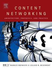 Cover of: Content Networking