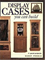 Cover of: Display Cases You Can Build