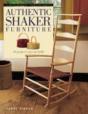 Cover of: Authentic Shaker Furniture (Classic American Furniture Series)