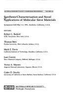 Cover of: Synthesis/Characterization and Novel Applications of Molecular Sieve Materials