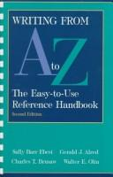 Cover of: Writing from A to Z: The Easy-To-Use Reference Handbook