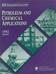 Cover of: Petroleum and Chemical Applications Standards Collection, 1992 (IEEE Standards Collections)