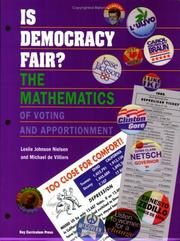 Cover of: Is Democracy Fair?