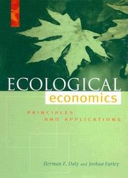 Cover of: Ecological Economics