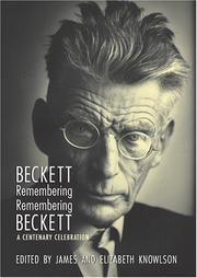 Cover of: Beckett Remembering/Remembering Beckett