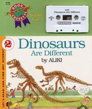 Cover of: Dinosaurs Are Different (Book & Audiocassette)