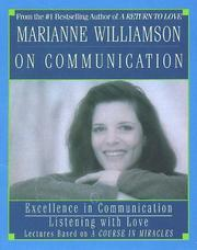 Cover of: Marianne Williamson on Communication