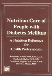 Cover of: Nutrition Care of People With Diabetes Mellitus