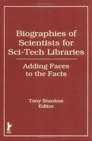 Cover of: Biographies of Scientists for Sci-Tech Libraries