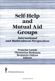 Cover of: Self-help and mutual aid groups