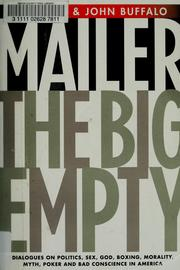 Cover of: The big empty: dialogues on politics, sex, God, boxing, morality, myth, poker, and bad conscience in America