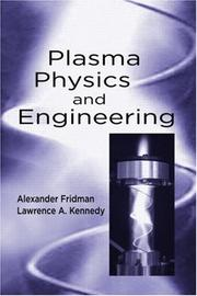 Cover of: Plasma Physics and Engineering