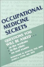 Cover of: Occupational Medicine Secrets