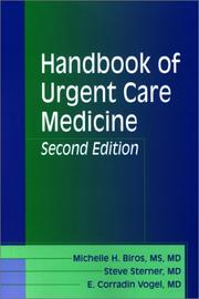 Cover of: Handbook of Urgent Care Medicine (The Secrets Series)