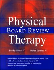 Cover of: Physical Therapy Board Review